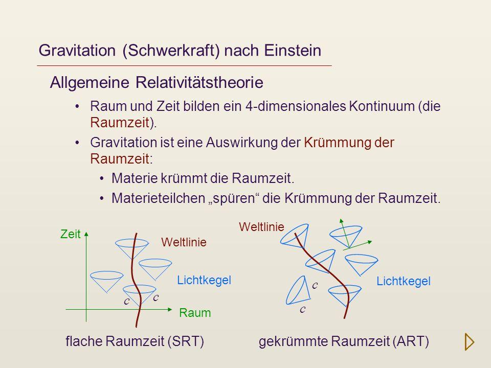 Gravitation (Schwerkraft) nach Einstein