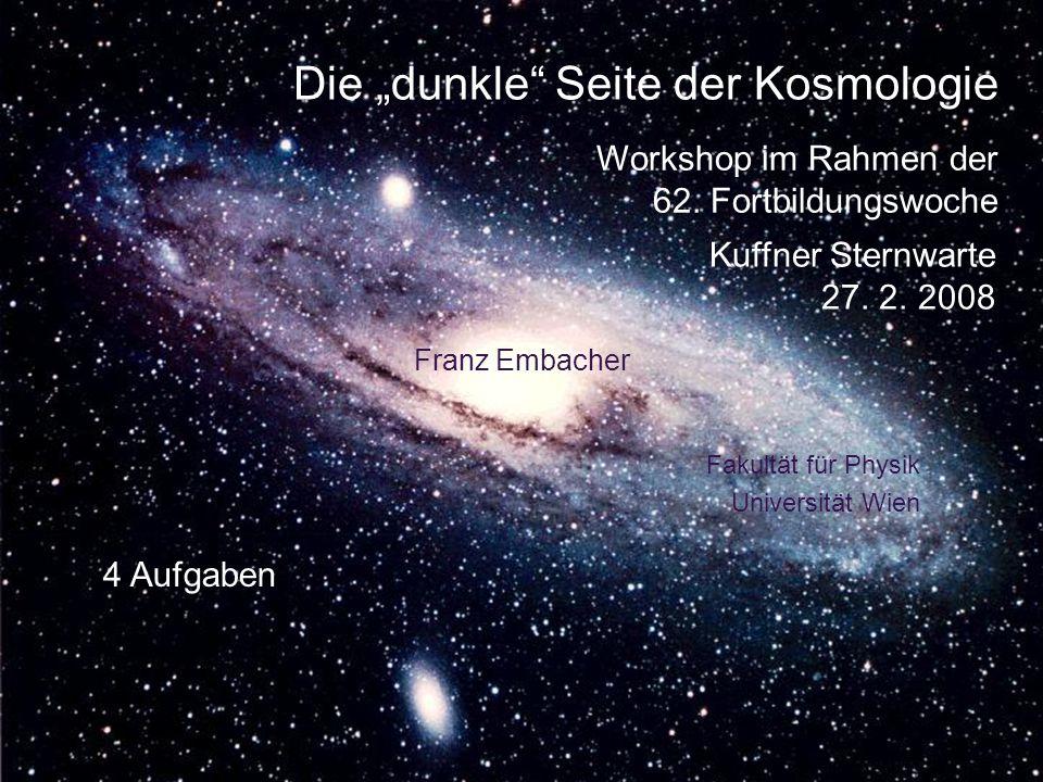 """Die """"dunkle Seite der Kosmologie"""