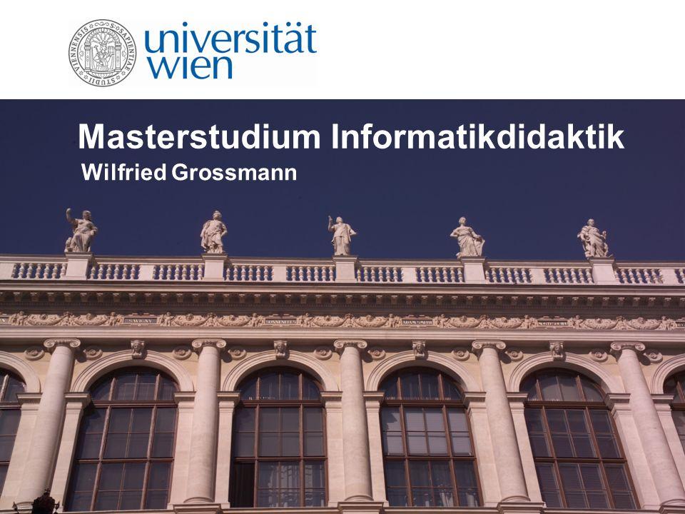Masterstudium Informatikdidaktik