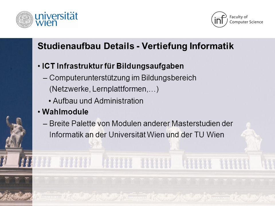 Studienaufbau Details - Vertiefung Informatik