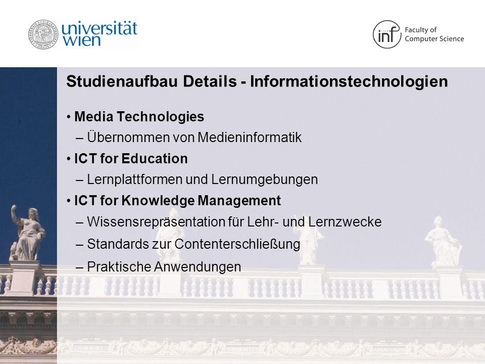 Studienaufbau Details - Informationstechnologien