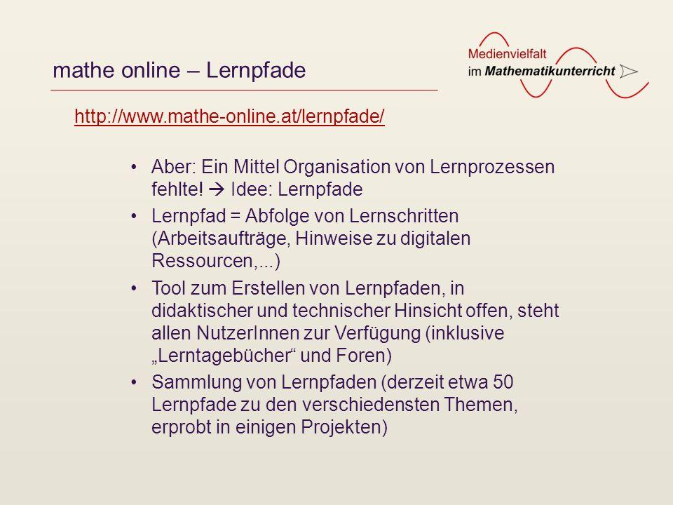 mathe online – Lernpfade
