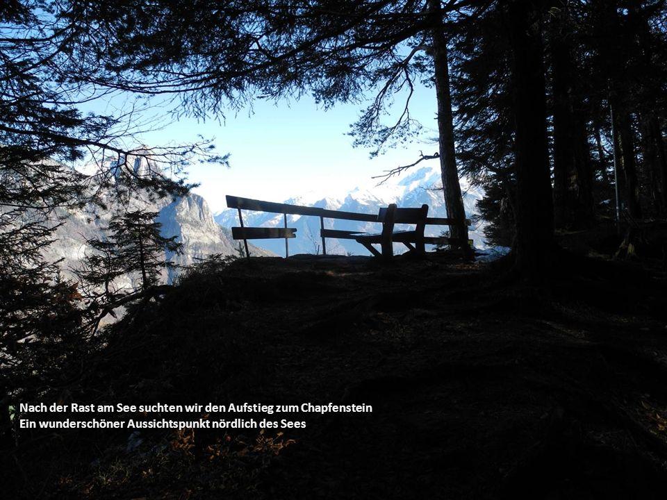 Nach der Rast am See suchten wir den Aufstieg zum Chapfenstein