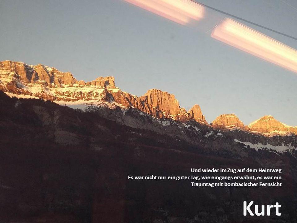 Kurt Und wieder im Zug auf dem Heimweg