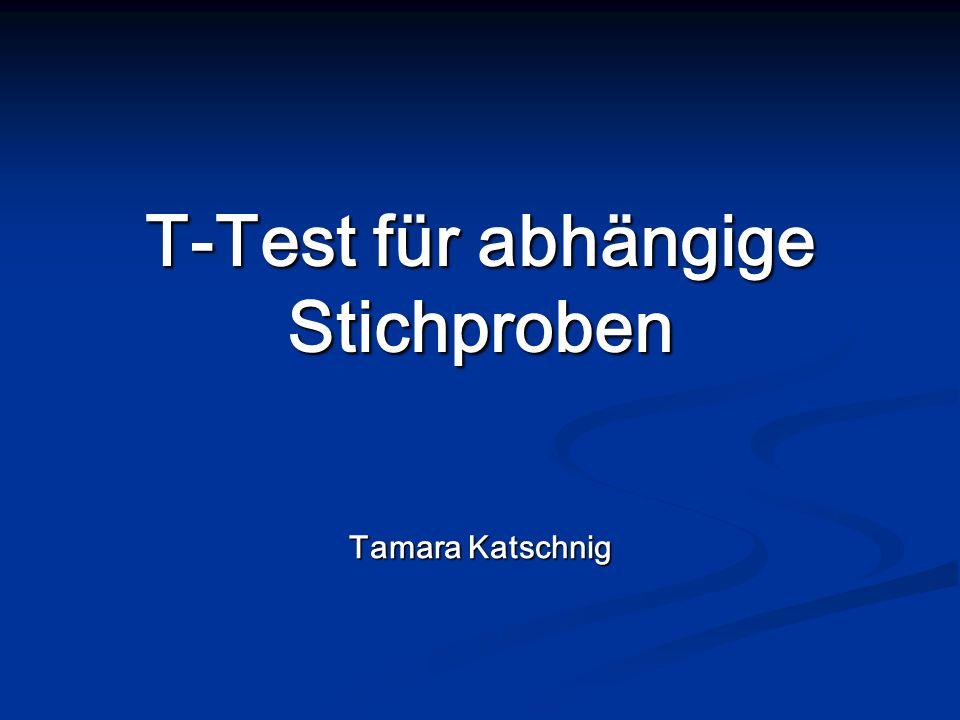 T-Test für abhängige Stichproben