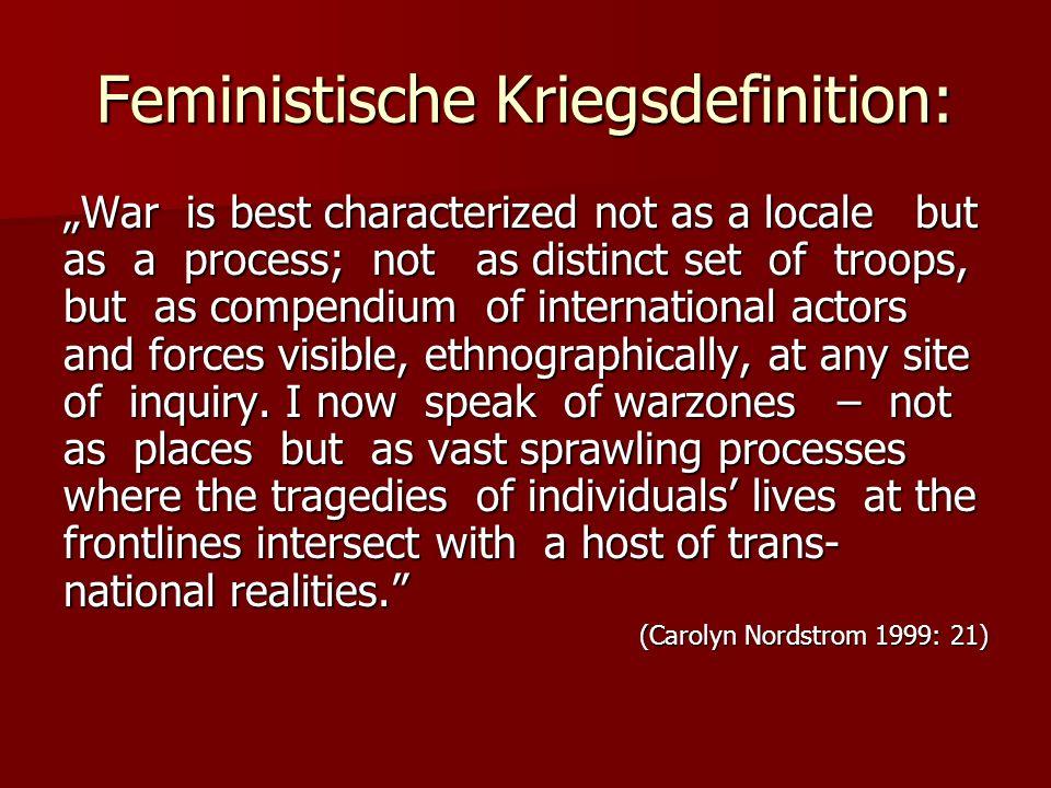 Feministische Kriegsdefinition: