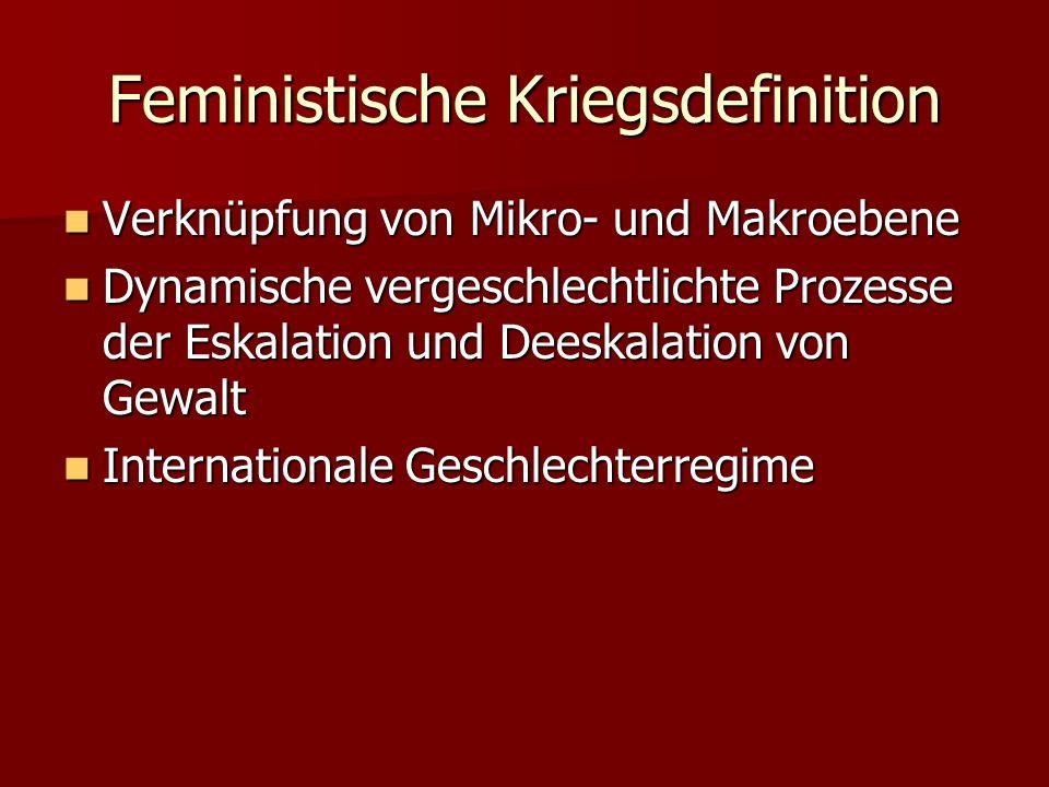Feministische Kriegsdefinition