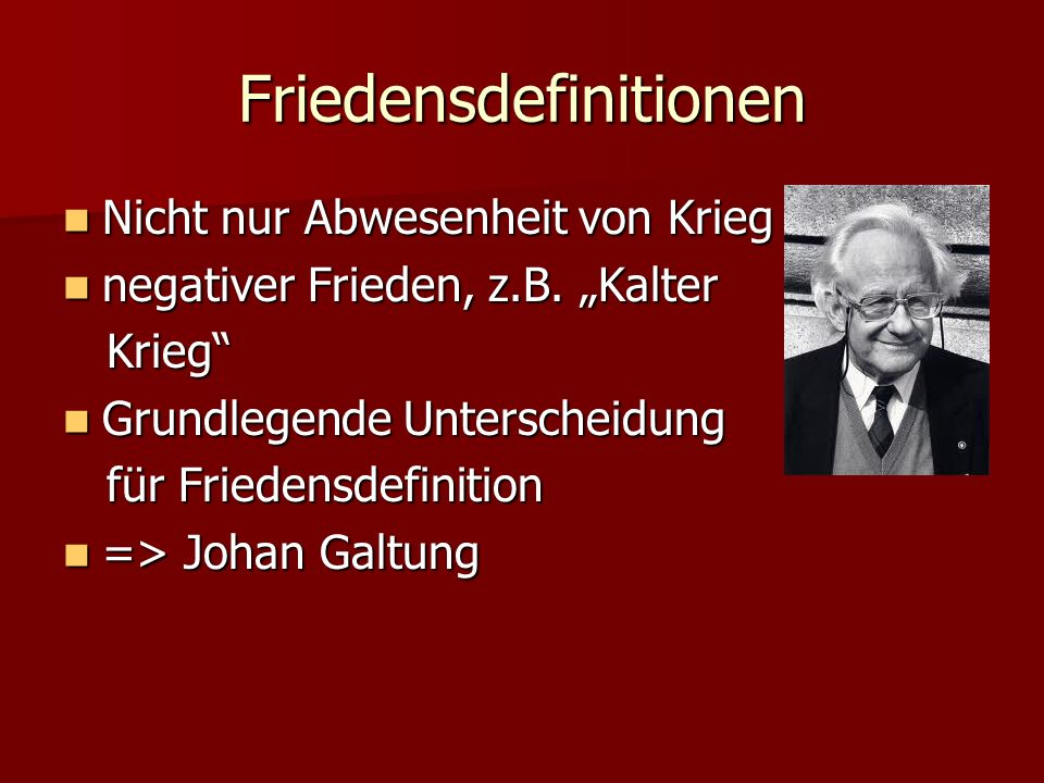 Friedensdefinitionen
