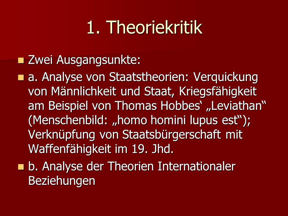 1. Theoriekritik Zwei Ausgangsunkte: