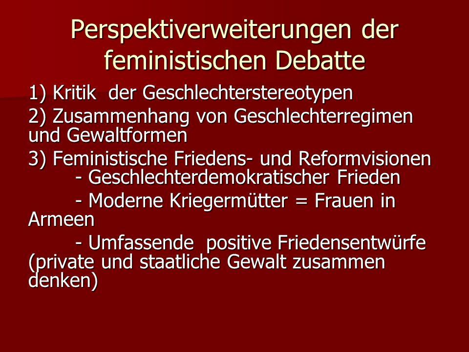 Perspektiverweiterungen der feministischen Debatte