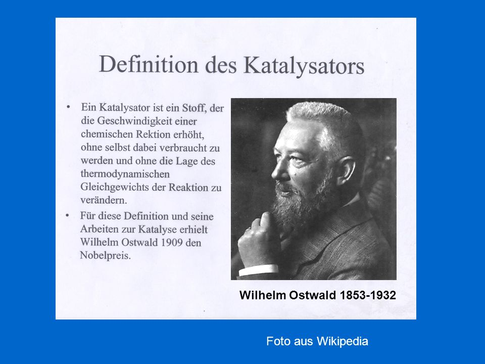 Wilhelm Ostwald 1853-1932 Foto aus Wikipedia