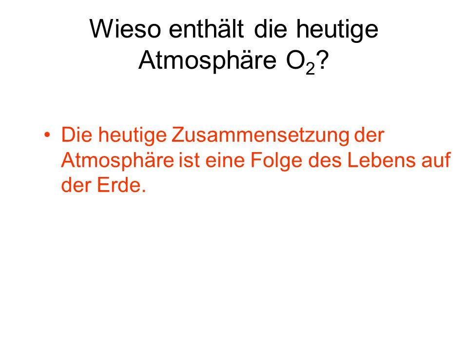 Wieso enthält die heutige Atmosphäre O2