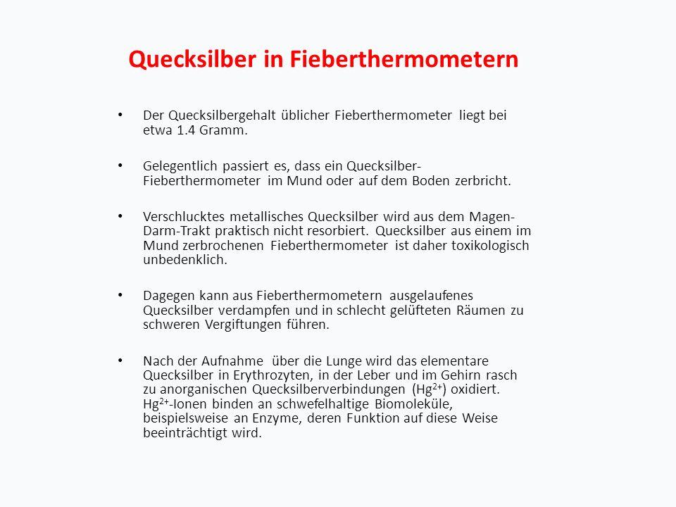 Quecksilber in Fieberthermometern