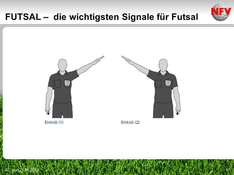 FUTSAL – die wichtigsten Signale für Futsal