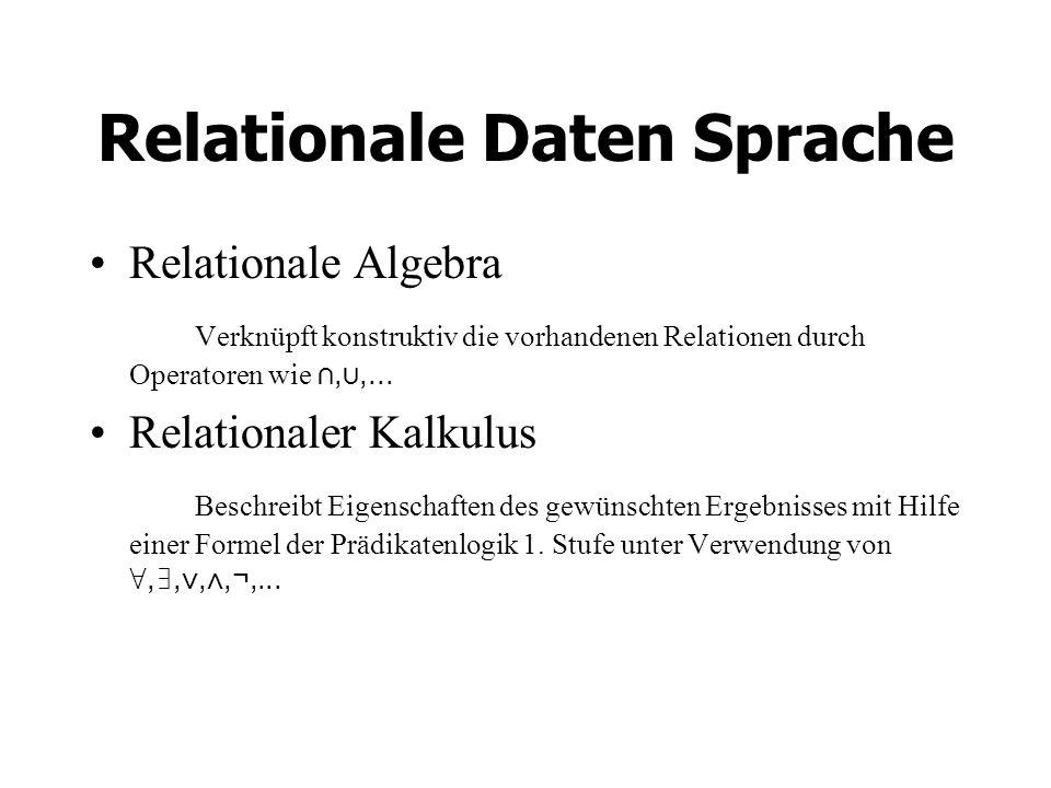 Relationale Daten Sprache