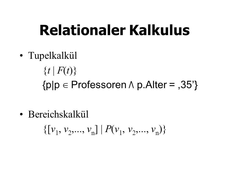 Relationaler Kalkulus