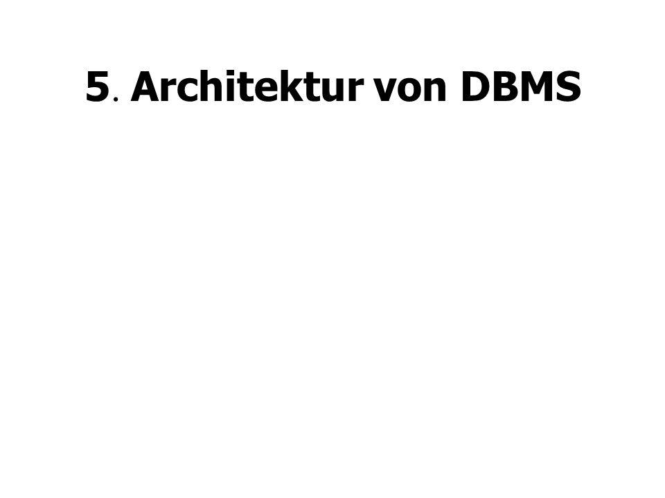 5. Architektur von DBMS