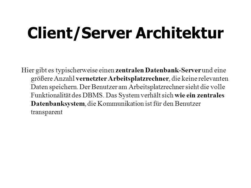Client/Server Architektur