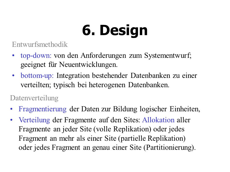 6. Design Entwurfsmethodik