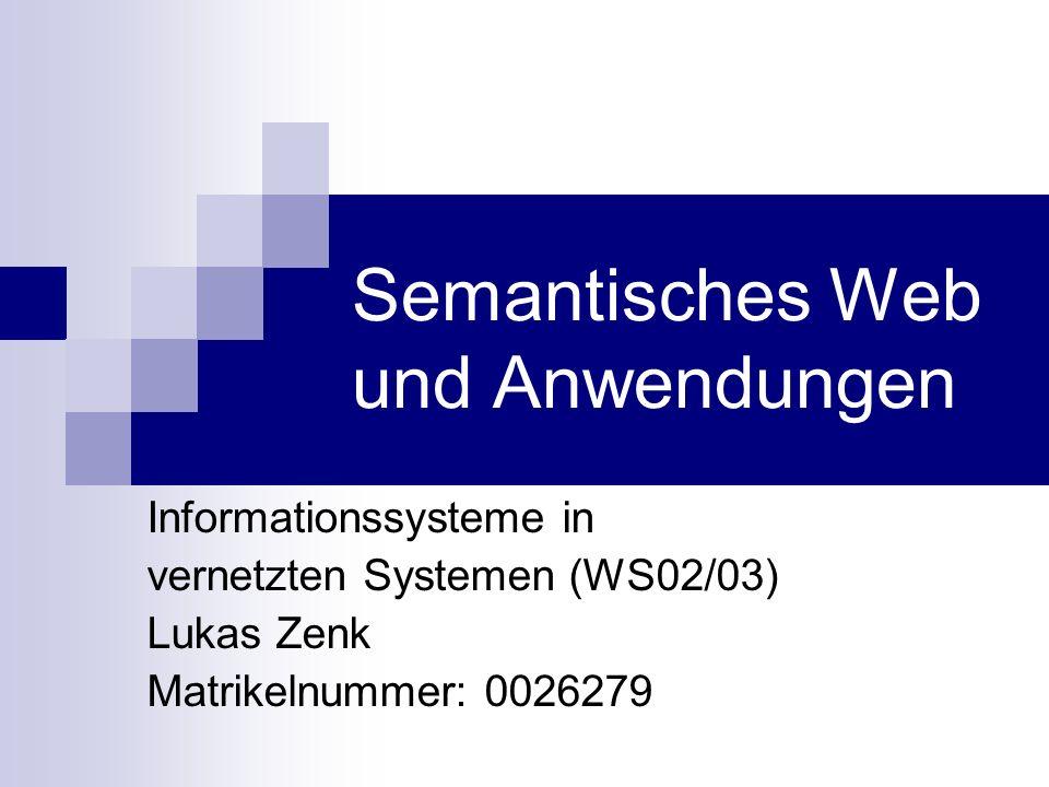 Semantisches Web und Anwendungen