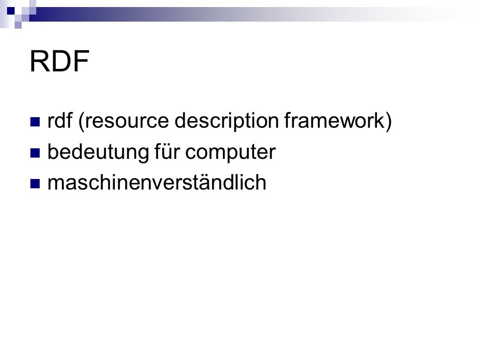 RDF rdf (resource description framework) bedeutung für computer