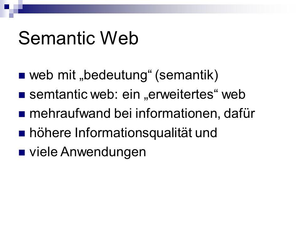 "Semantic Web web mit ""bedeutung (semantik)"