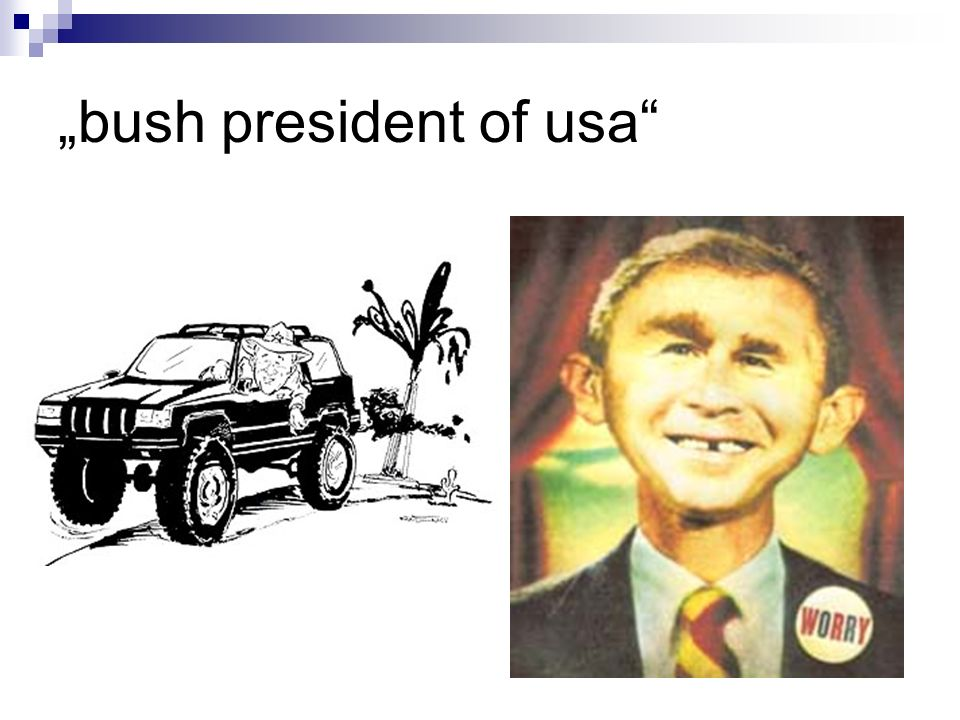 """bush president of usa"