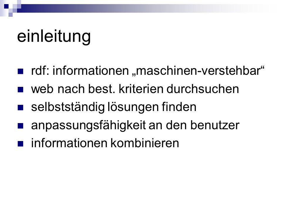 """einleitung rdf: informationen """"maschinen-verstehbar"""