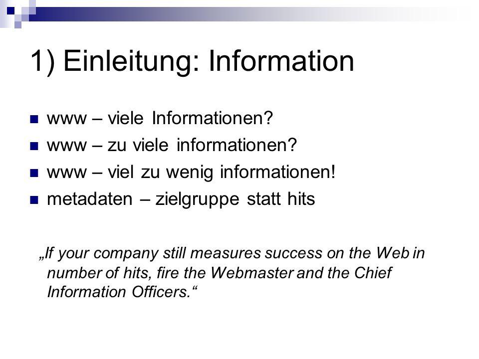 1) Einleitung: Information