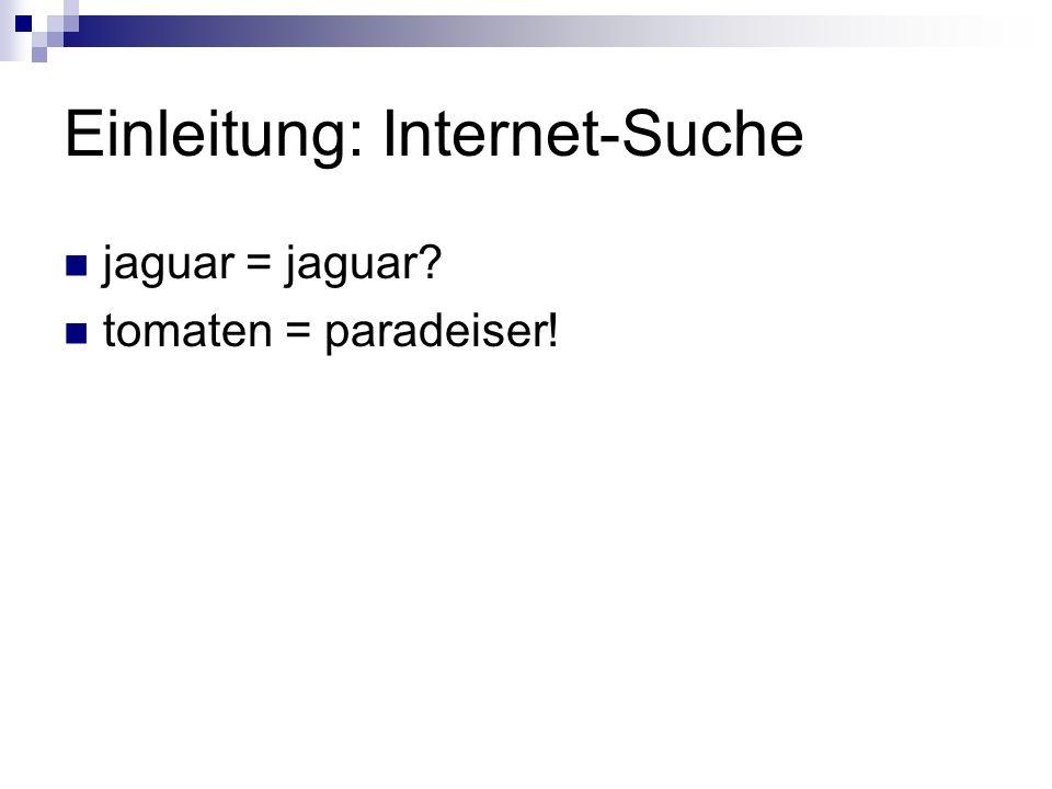 Einleitung: Internet-Suche