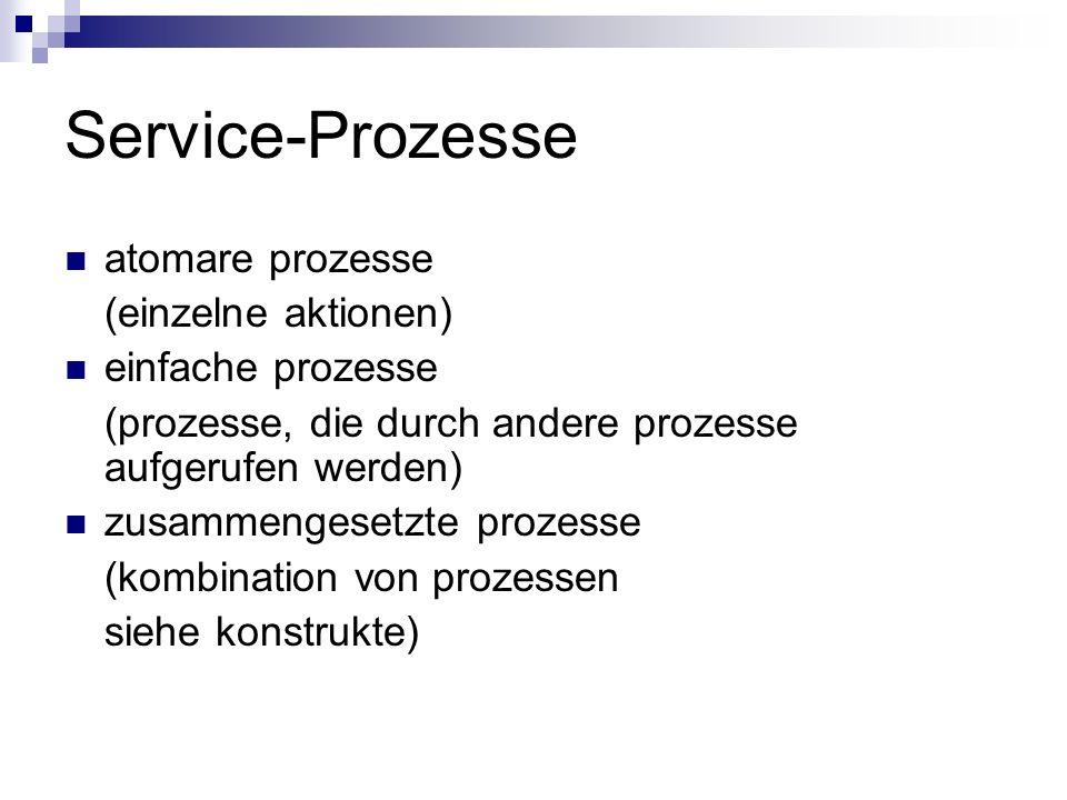 Service-Prozesse atomare prozesse (einzelne aktionen)
