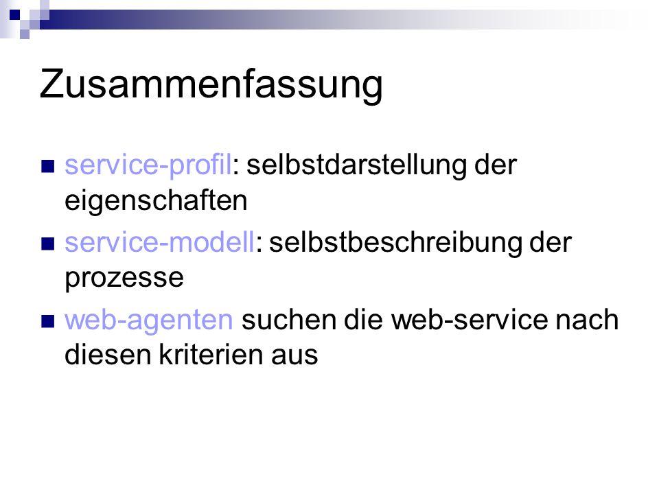 Zusammenfassung service-profil: selbstdarstellung der eigenschaften