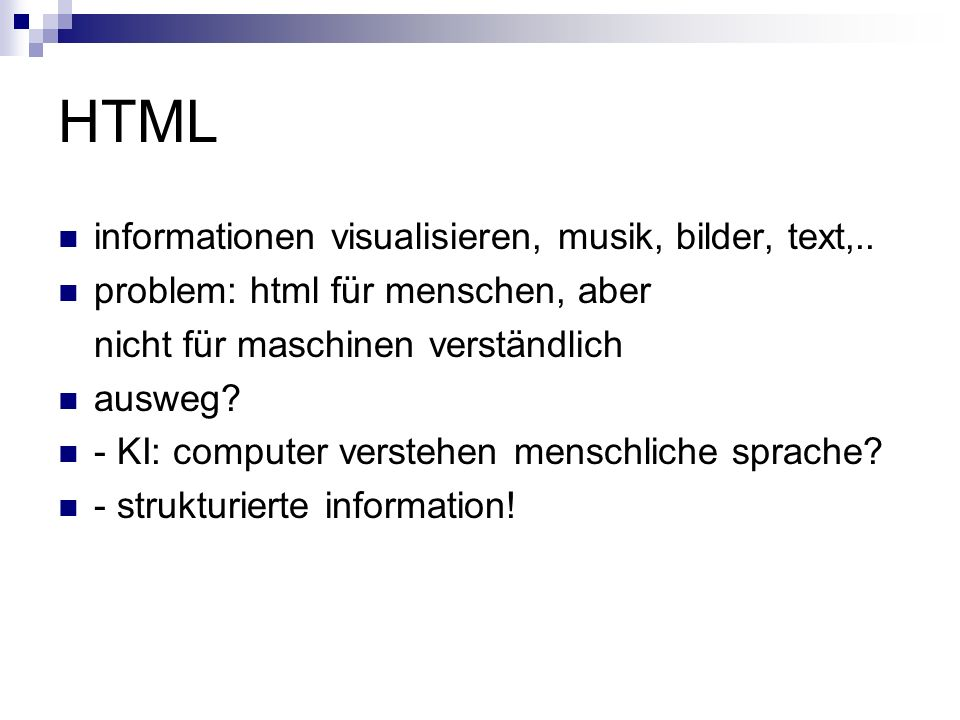 HTML informationen visualisieren, musik, bilder, text,..