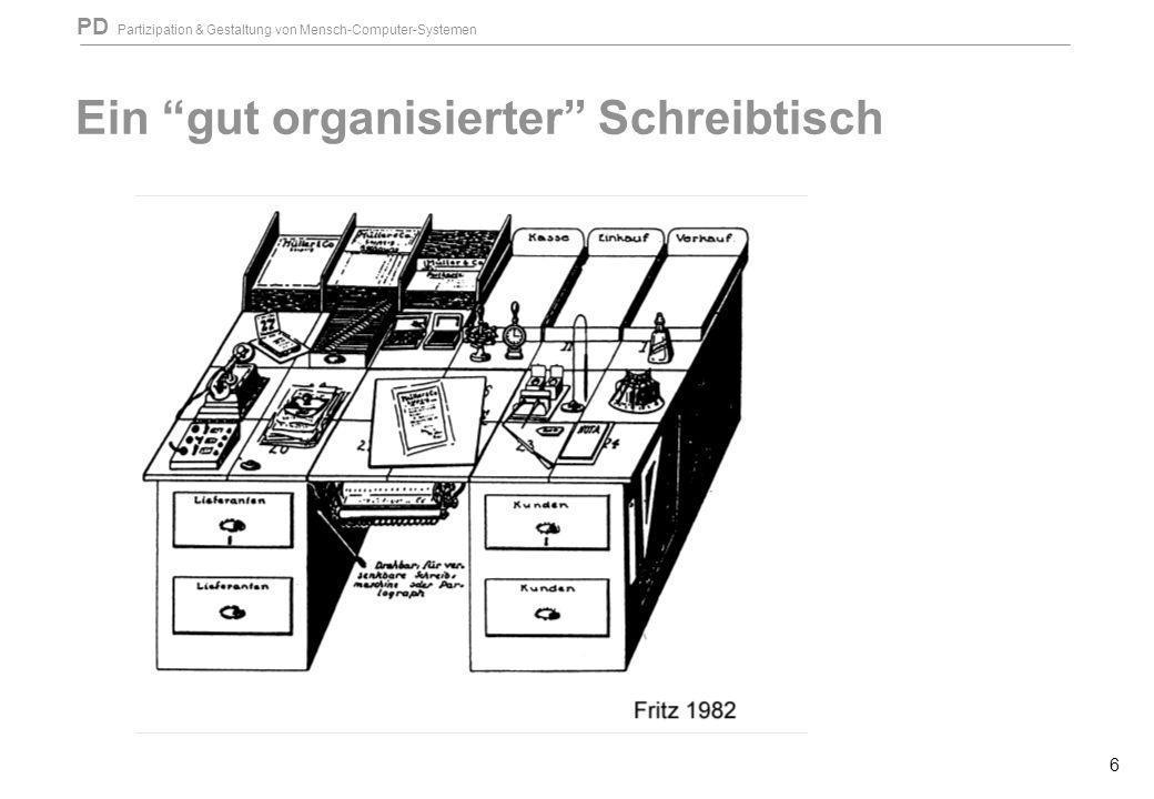 Ein gut organisierter Schreibtisch