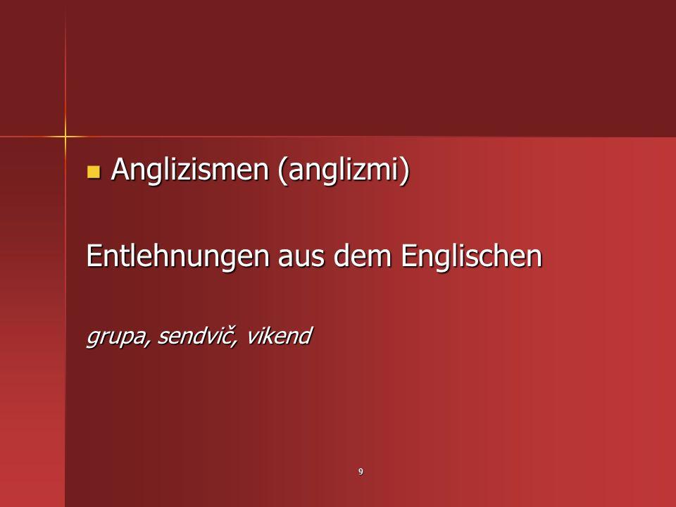 Anglizismen (anglizmi) Entlehnungen aus dem Englischen