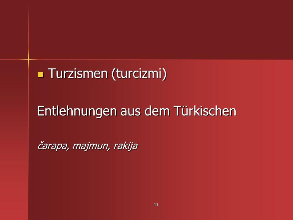 Entlehnungen aus dem Türkischen