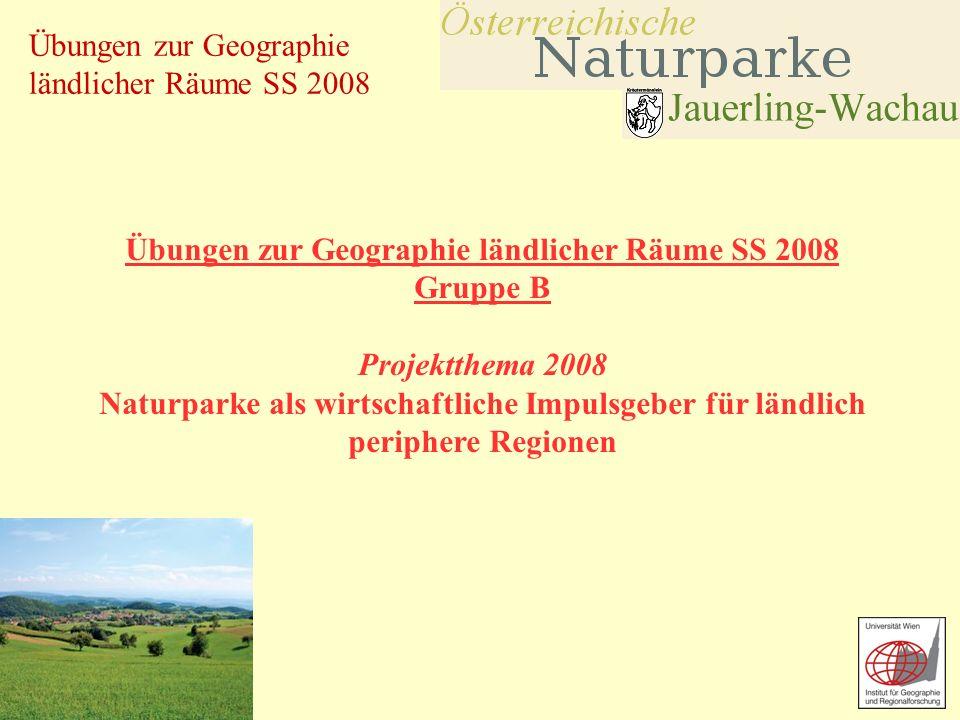 Übungen zur Geographie ländlicher Räume SS 2008