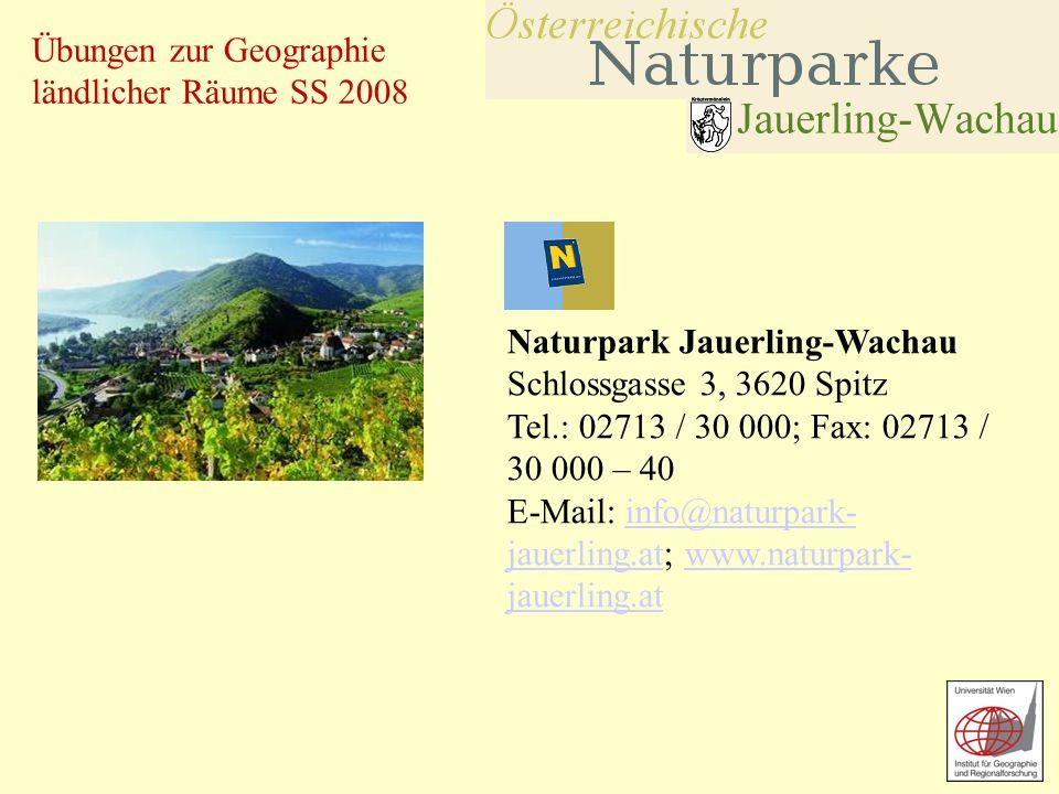 Naturpark Jauerling-Wachau Schlossgasse 3, 3620 Spitz Tel
