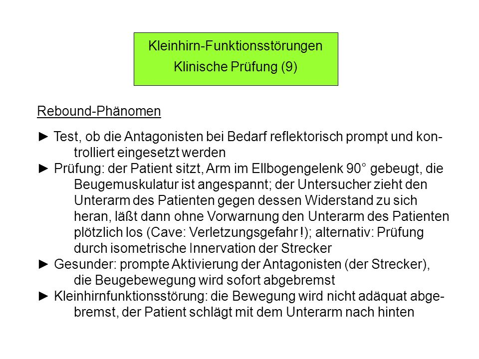 Kleinhirn-Funktionsstörungen