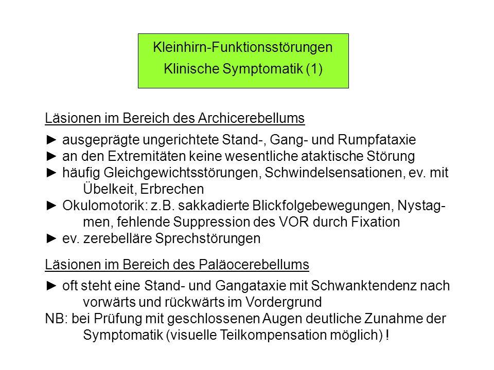 Kleinhirn-Funktionsstörungen Klinische Symptomatik (1)