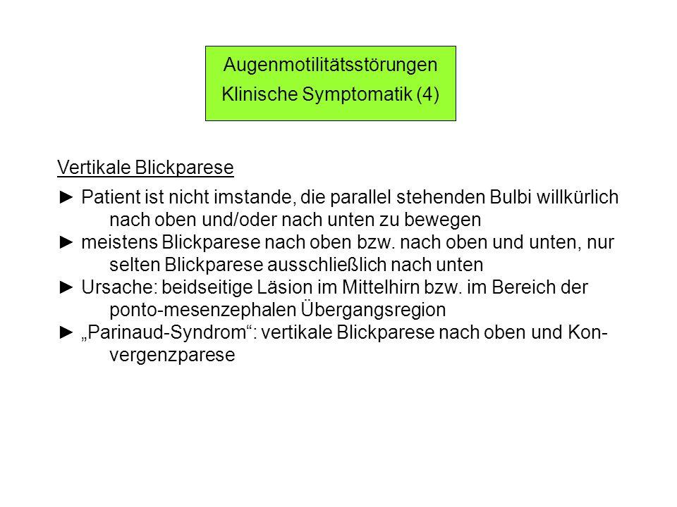Augenmotilitätsstörungen Klinische Symptomatik (4)