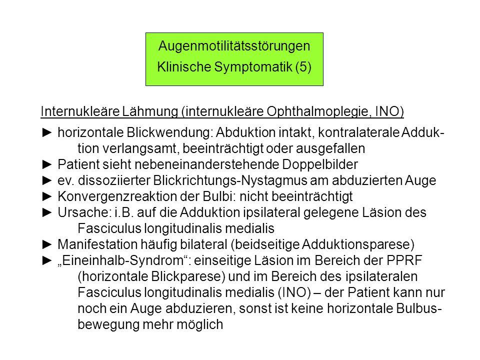 Augenmotilitätsstörungen Klinische Symptomatik (5)