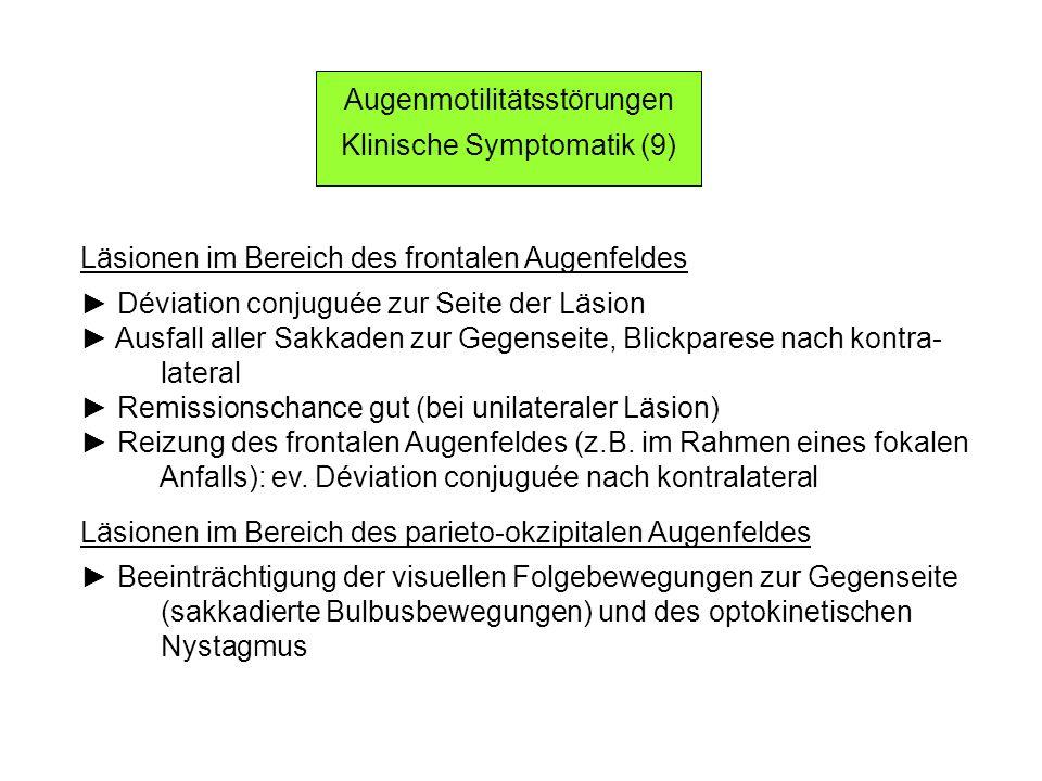 Augenmotilitätsstörungen Klinische Symptomatik (9)