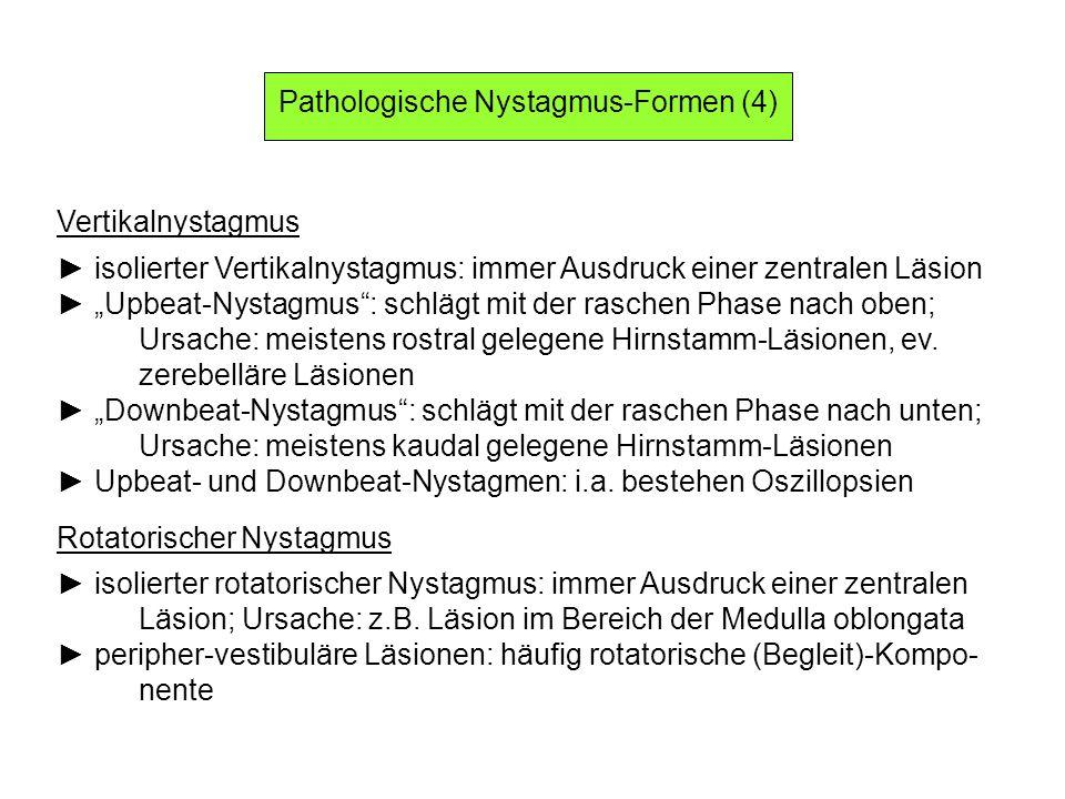 Pathologische Nystagmus-Formen (4)