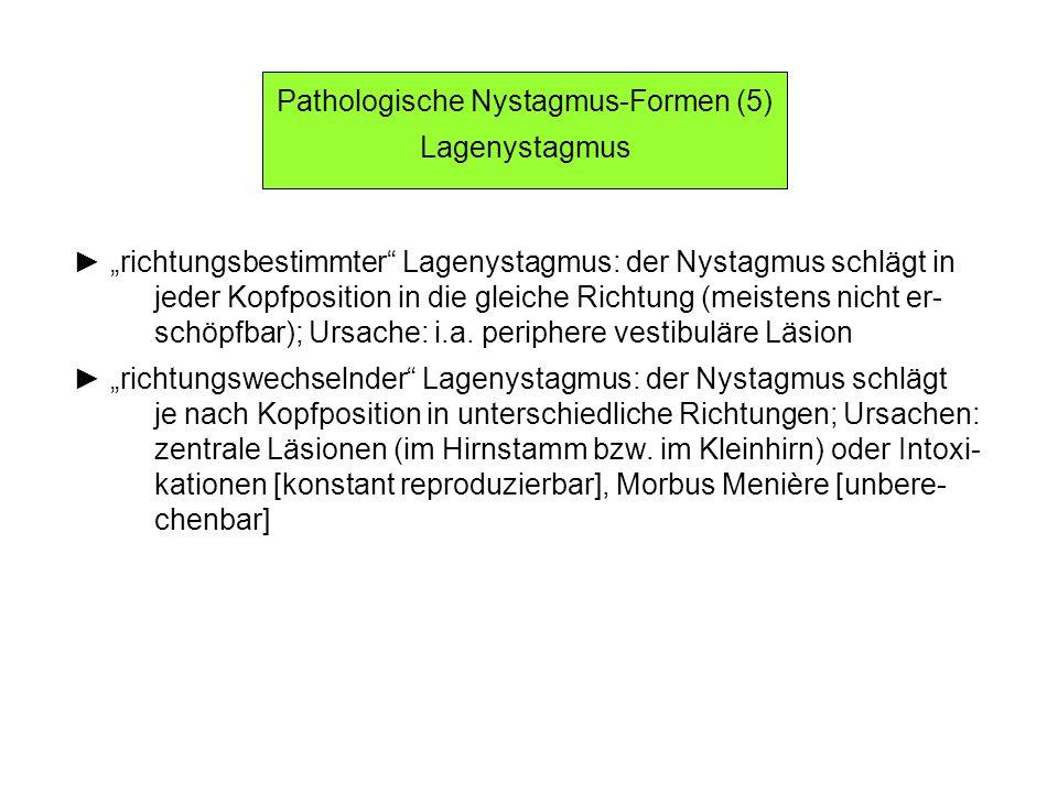 Pathologische Nystagmus-Formen (5)