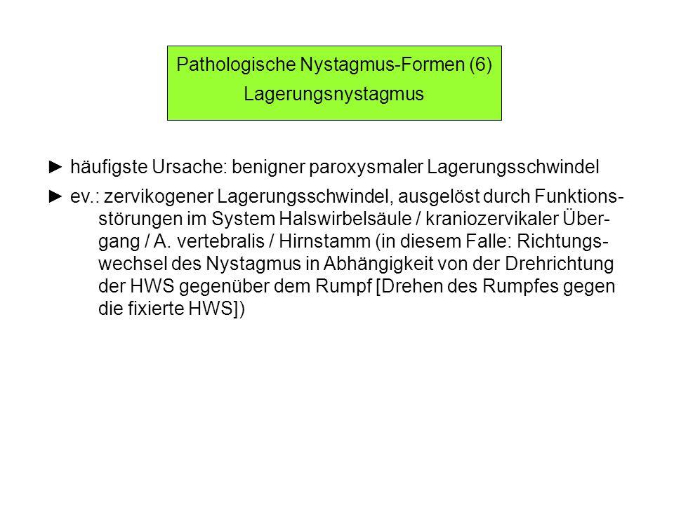 Pathologische Nystagmus-Formen (6)