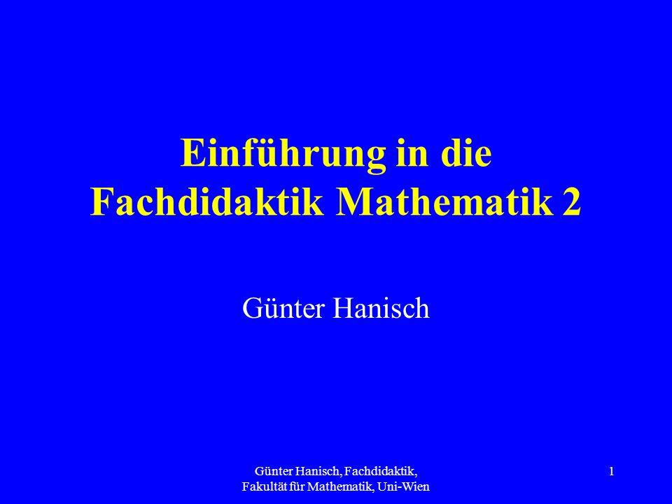 Einführung in die Fachdidaktik Mathematik 2