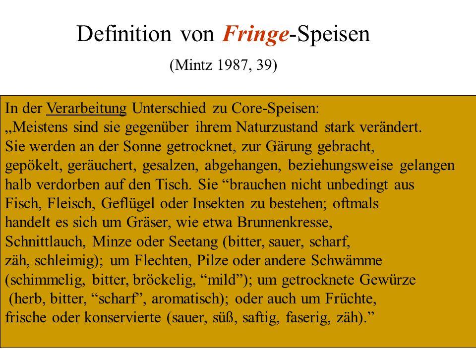 Definition von Fringe-Speisen