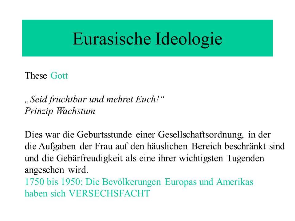 """Eurasische Ideologie These Gott """"Seid fruchtbar und mehret Euch!"""