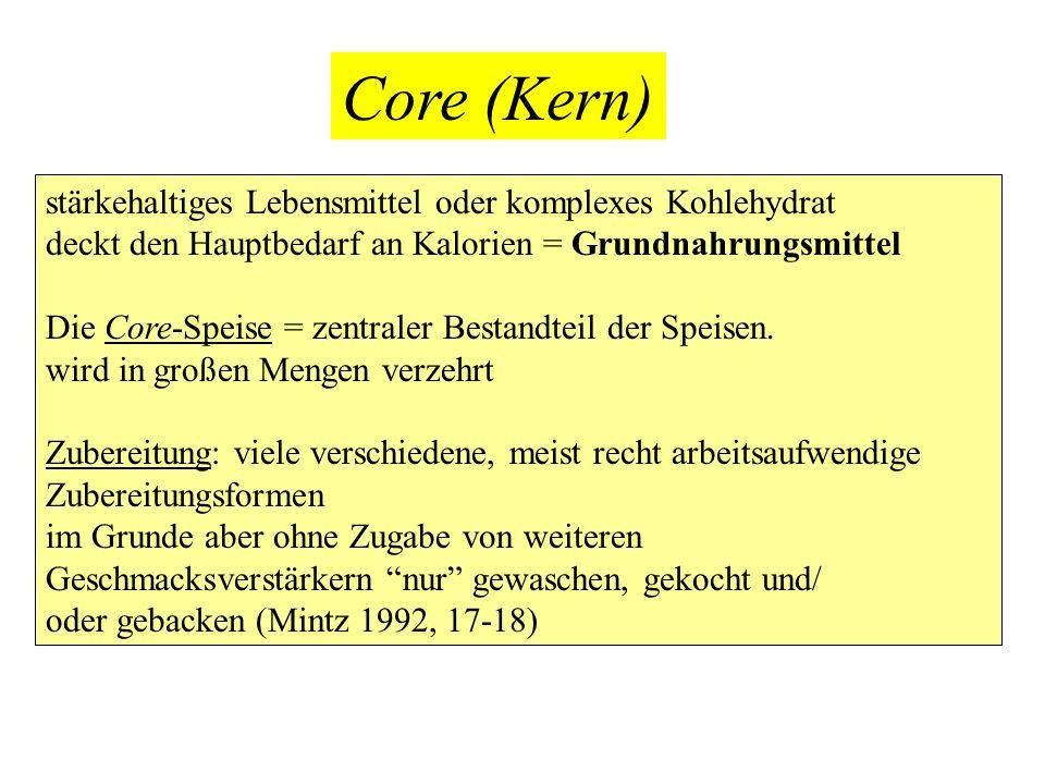Core (Kern) stärkehaltiges Lebensmittel oder komplexes Kohlehydrat